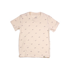 Organic Cotton T-Shirt - Skateboard Print in Eggshell