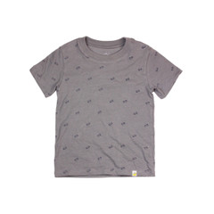 Organic Cotton T-Shirt - Skateboard Print in Steel Grey
