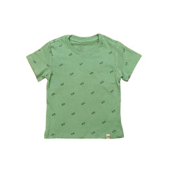 Organic Cotton T-Shirt - Skateboard Print in Mint Green