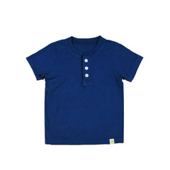 Organic Cotton Henley - Navy