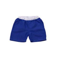 Organic Linen Shorts - Blue