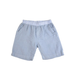 Organic Linen Shorts - Light Blue