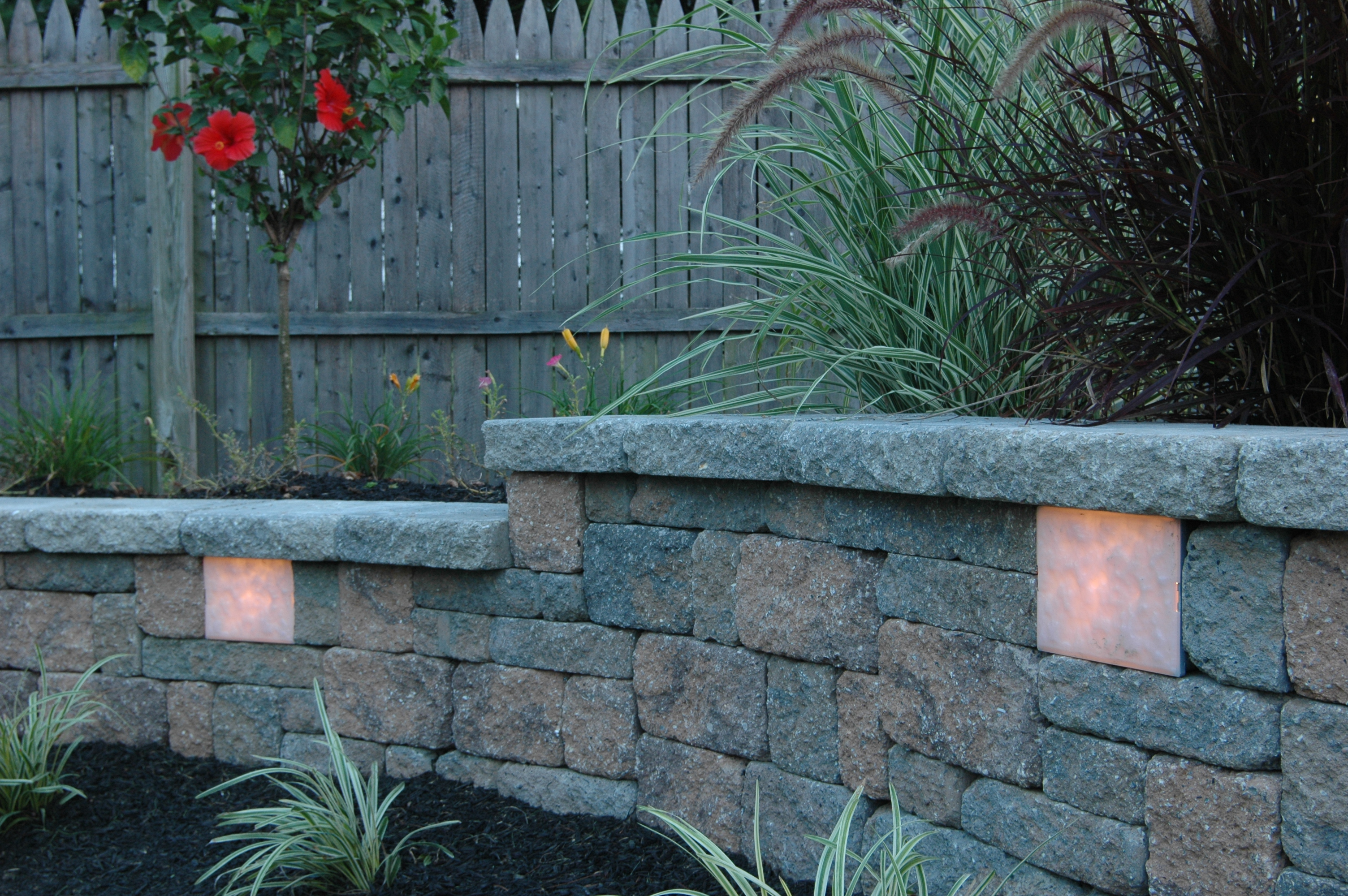 Garden Wall Lights Garden Wall Retaining Wall