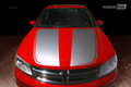 2008-2014 Dodge Avenger Hood Blackout Split Pinstripe Stripes Decals