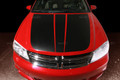 2008-2014 Dodge Avenger Hood Blackout Full Stripes Decals