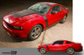 2010-2012 MUSTANG Boss Style Hood to Side Stripes Kit