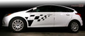 2011-2014 Ford Focus Checkered Side Stripes