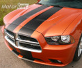 2011-2014 Dodge Charger Over-The-Top Rally Racing Stripes Full Set Decals