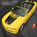 2014-2015 Chevy Camaro Convertible Checkered Rally Racing Stripes Hood &Trunk SS Coupe