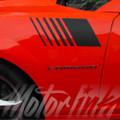 2014-2016 Chevy Camaro Hash Marks Fender Strobe Side Stripes Decals Graphics
