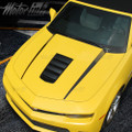 2014 2015 Chevy Camaro Hood Strobe Side Spears Accent Stripes Decals Blackout