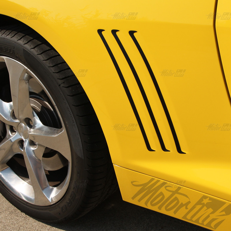 2014 Camaro Silvers: 2014 2015 Chevy Camaro Side Vent Inserts Gill Rear Stripes