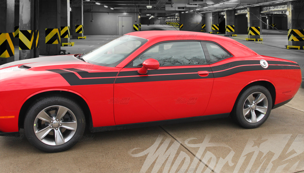 Billet Silver Challenger With Dual Rally Stripes Dodge