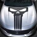 2015 2016 2017 2018 Dodge Charger Punisher Skull Hood Blackout Decal Stripe