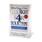 D'Adamo Nutrition, Cook Right 4 Your Type (Softcover)