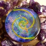 Orgone Pendant, Deep Space encoded with Vesica Pisces Fibonacci Infinity and 7 Chakra 's – Healer (Big Size)