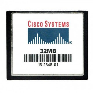 Feature      Product Type: Compact Flash (CF)- Type     Flash Memory Capacity: 32MB     Pin: 50-pin     Dimensions: 36.4mm(L)*42.8mm(W)*3.3mm(H)     Weight: 15g     Brand Name: CISCO     Form Factor: CompactFlash (CF)     Application/usage: Switch     Data transmission speed:     Read: 8 - 16MB/sec=100X     Write: 8 - 15MB/sec     environments and temperatures from     -13 F to 185 F     -25 C to 85 C      Voltage: 3.3V  10%; 5.0V  10%   Specifications:      Easy plug-and-play.     32MB Memory Capacity.     Low Power Consumption.     Solid-State Storage.     100% Satisfaction Guarantee.     Come with Protection Plastic Box.     Support : Windows 7, 2000, XP/Macos   Technical reference:  Compatible with:      Digital Cameras     Digital Video Players     Digital MP3 Music Players     Computers     Laptops     Card readers     Handheld PCs  And other devices that feature a Compact Flash slot.