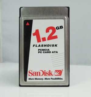 SanDisk 1.2GB ATA PC 68Pins PCMCIA Flash Disk Memory Card Genuine Made in USA