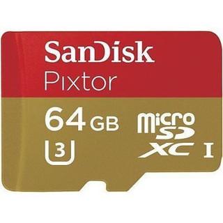 SanDisk 4K 64GB PIXTOR U3 micro SDXC Card Class10 80M/s SDSQXWG-064G UHS-3 533X