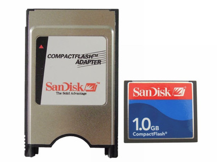 1GB SanDiskCF Compact Flash+PCMCIA Adapter=1G ATA Flash Disk For JANOME Fanuc