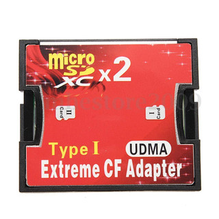 Brand New and High Quality Convert micro SD / micro SDHC / TF to CF Type I This adapter will show the real speed of inserted media Memory card is completely invisible inside the adapter Feature:  Supports Micro SD/TransFlash all capacities  SD 3.0 ready / accept exFAT file system on windows  High-Speed CF interface with extreme performance  Supports CF true IDE mode / memory mode / IO mode  Equipped with push-push MicroSD socket  Supports Windows/Mac OS/Linux