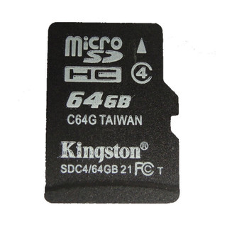 """Identical in physical size to a standard microSD card, the microSDHC and  microSDXC cards are designed to comply with SD card Specification and are only recognized by microSDHC or microSDXC host devices. They can be used as full-size SDHC/SDXC cards when used with the included adapter. To ensure compatibility, look for the microSDHC, microSDXC or SDHC /SDXC logos on host devices (e.g., phones, tablets and cameras)。 Wherever you find yourself in the mobile world, you can rely on Kingston's  microSDHC/SDXC cards. All cards are 100-percent tested and are backed by a lifetime warranty. Get more out of your mobile world. In capacities ranging from 4GB–128GB, microSDHC/SDXC cards offer higher storage for more music, more videos, more pictures, more games — more of everything you need in today's mobile world. The microSDHC and microSDXC cards allow you to maximize today's revolutionary mobile devices. Kingston's microSDHC/SDXC cards use a speed """"class"""" rating that guarantees a minimum data transfer rate for optimum performance with devices that use microSDHC/SDXC. Class 4 — minimum data transfer rates of 4MB/s. Great for point-and-shoot cameras, game consoles and other devices with SDHC support. Class 10 UHS-I — minimum data transfer rates of 10MB/s. Great for HD Video recordings. NOTICE:The item(s) are NOT coming with retail packing, But 100% Genuine & Brand New."""