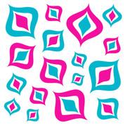 Retro Pink & Blue Jumbo Decals