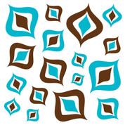 Retro Brown & Blue Jumbo Decals