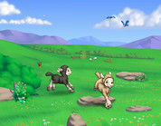 "Little Lambs B 54"" x 42"" Celtic Cloth"