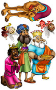 D. Christmas Nativity Three Wise Men Peel'N'Stick Character Pack