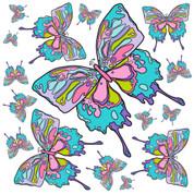 Flutterflies 0005 Jumbo Decals