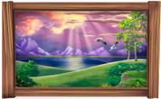Framed Fantasy (Purple Sunset) Scene
