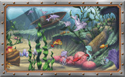 Framed Undersea Cartoon Scene