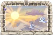 Framed Heavenly Skies Scene