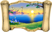 Creation Story Day 7 - Bible Scroll