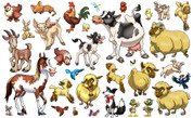 Animal Set: Farm Peel'n'Stick Pack