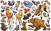 Animal Set: Forest Peel'n'Stick Pack #1