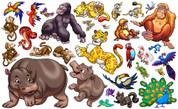 Animal Set: Jungle Peel'n'Stick Pack