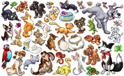Animal Set: Pets Peel'n'Stick Pack #1