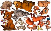 Animal Set: Forest Peel'n'Stick Pack #2