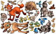 Animal Set: Forest Peel'n'Stick Pack #3