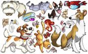 Animal Set: Pets Peel'n'Stick Pack #2