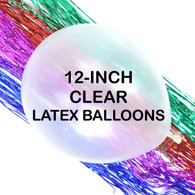 12 Inch Clear Latex Balloons (5 ct)