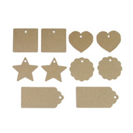 Blank Gift Tag Set (Star, Round, Square, Badge, Heart)