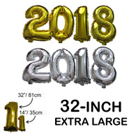 "Extra Large 32"" Number Balloons Set 2018"