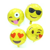 16-inch Emoji Balloons (Sunglasses/ Smooch/ Crazy/ Love)