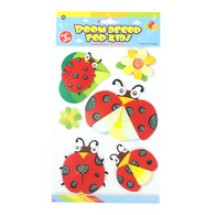 Kids Room Decor 3D Stickers - Ladybugs