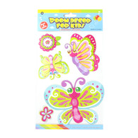 Kids Room Decor 3D Stickers - Butterflies & Flowers
