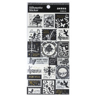 Silhouette Stickers Music Stamps