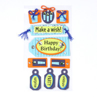 Birthday 3D Stickers
